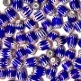 6x8mm Bulk Blue Chevrons