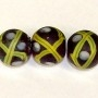 Black Venetian Cross Bead