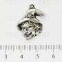 Witch head charm