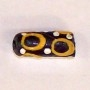 African Yellow Circle Bead